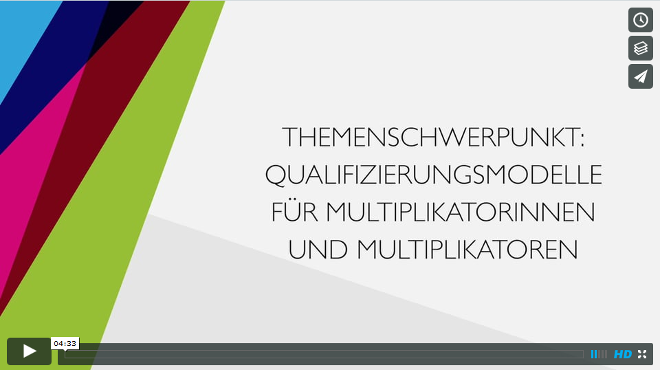 Screenshot Video Qualifizierungsmodelle